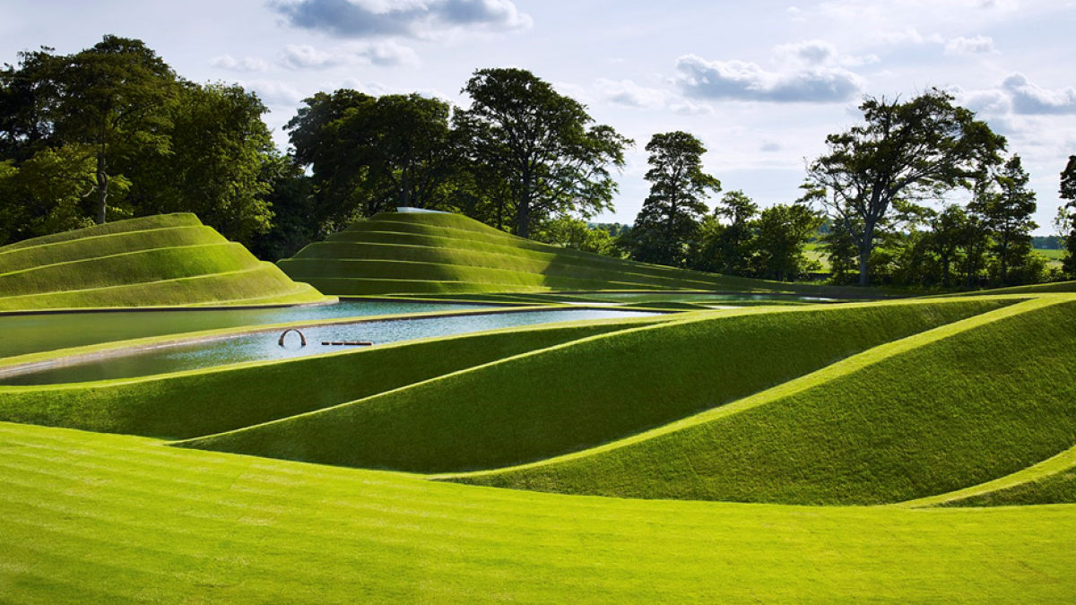 The Cells of Life by Charles Jencks at Jupiter Artland. Image by Allan Pollok-Morris, courtesy of Jupiter Artland.