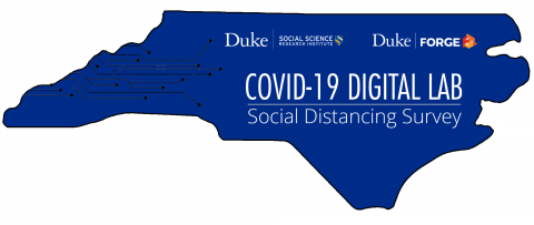 Logo for the joint Duke Social Science Research Institute/Duke Forge COVID19 Digital Lab